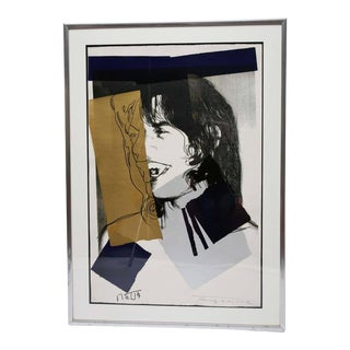 Andy Warhol and Mick Jagger, Signed by Both, 20th Century, USA