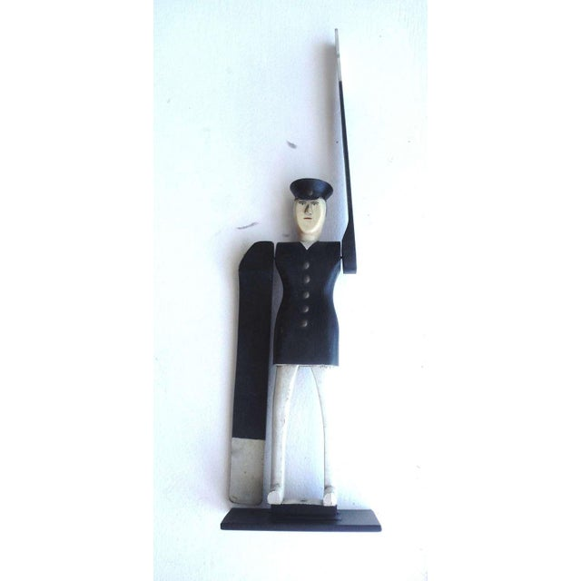 All Original Early Hand-Carved Policeman Whirligig - Image 2 of 9