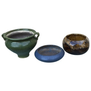 Vintage Pitt Pottery Planters - Set of Three
