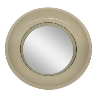 West Elm Wood Lacquer Convex Mirror
