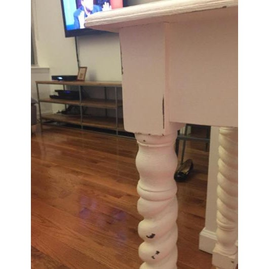 White Shabby Chic Vanity Or Small Desk Chairish