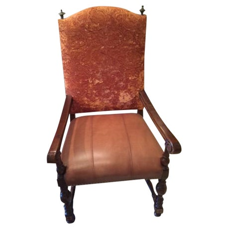 Leather Dining Room Chairs - Set of 8 - Image 1 of 4