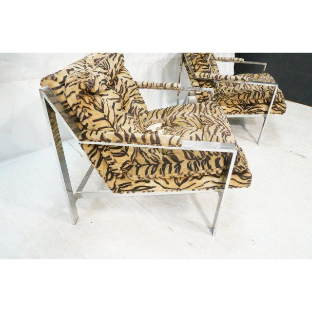 Cy Mann Lounge Chairs in the Style of Milo Baughman, Set of Two - Image 2 of 7