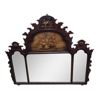 Painted Over-Mantel Mirror