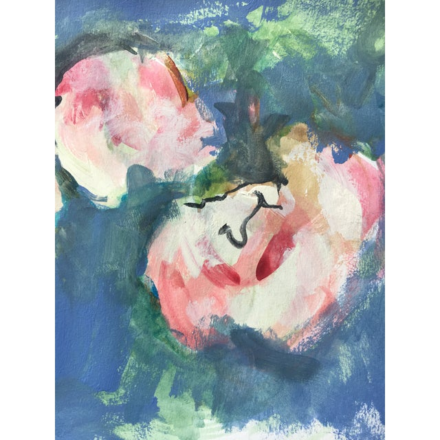Watercolor Soft Roses Painting - Image 4 of 5