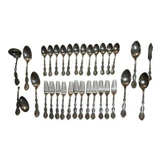 1897 Gorham Strousburg Sterling Silver Flatware Set