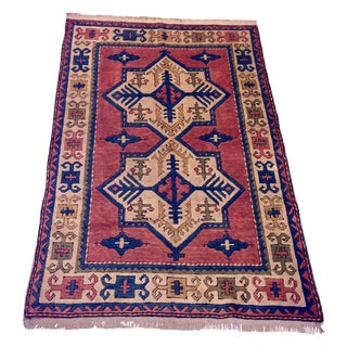 Kars Turkish Antique Rug - 4′2″ × 6′3″