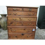 Image of English Style Carved Wood 6-Tier Graduated Chest