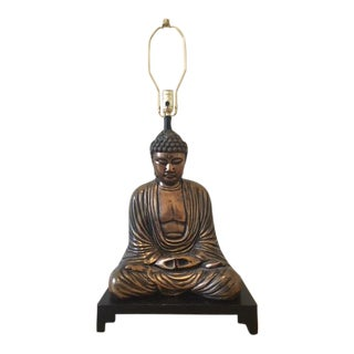 Bronze Buddha Table Lamp