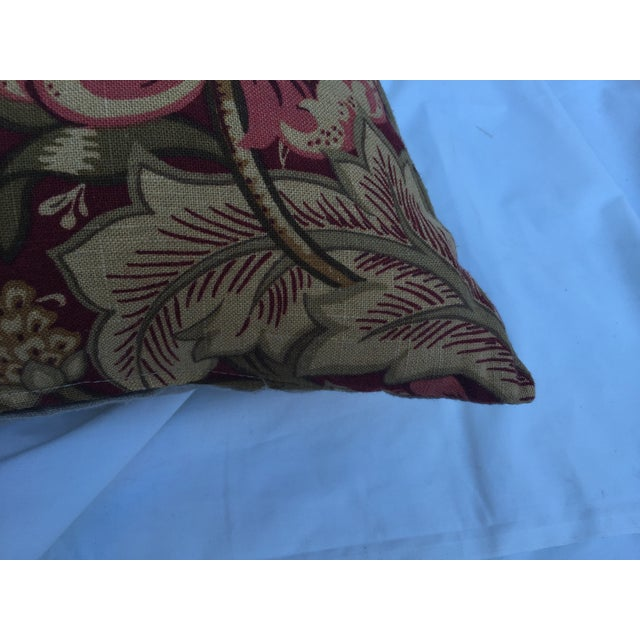 Woven Floral Pillow - Image 4 of 5