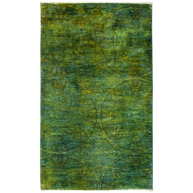 "Image of New Overdyed Hand Knotted Area Rug - 3'2"" x 5'3"""