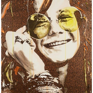 Janis Joplin Painting by Laura Lamour
