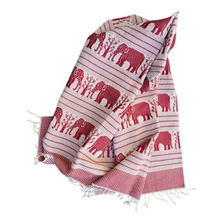 Homespun Burmese Elephant Table Runner