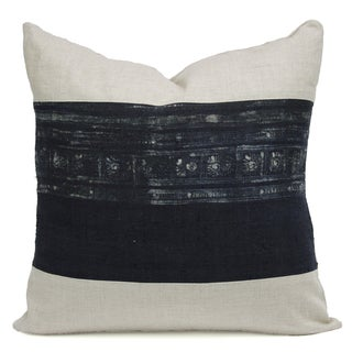 Vintage Indigo Batik Hmong Pillow