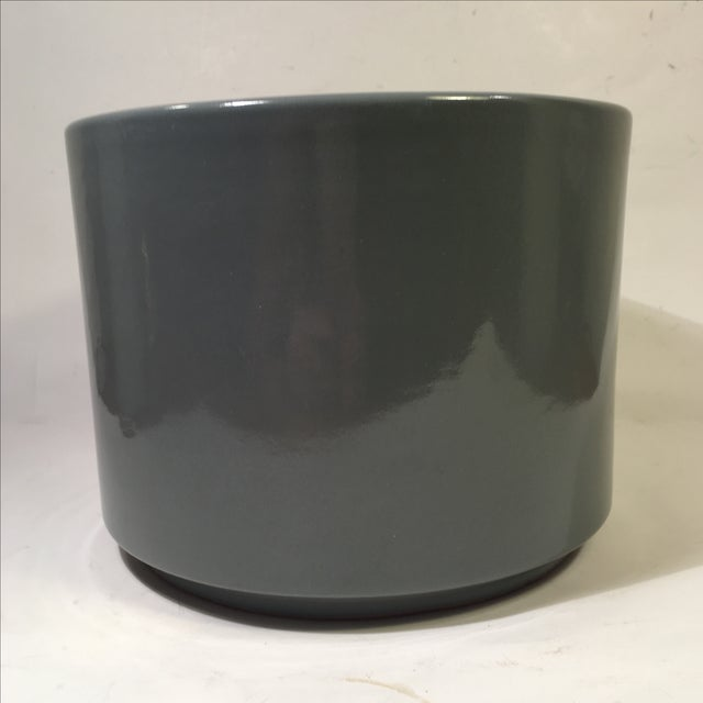 Vintage Gainey Planter in Slate Gray Gloss - Image 2 of 5