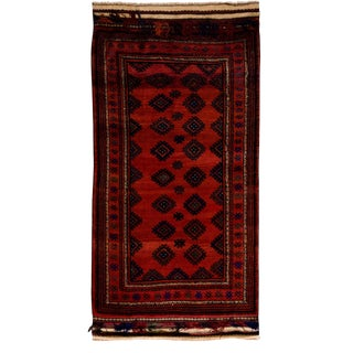 """New Tribal Hand Knotted Area Rug - 4'10"""" x 9'3"""""""