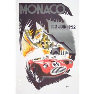 """B. Minne """"Monaco Grand Prix 1952"""" Lithograph"""