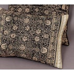Image of Embroidered Handwoven Silk Pillows - A Pair