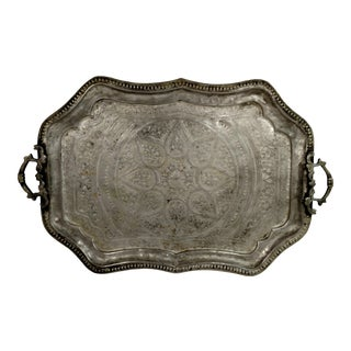 Vintage Hand-Hammered Serving Tray