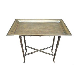 Brass Metal Tray Table