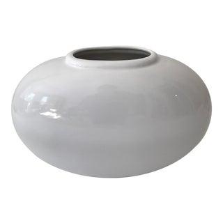 Haeger White Oval Pottery Vase