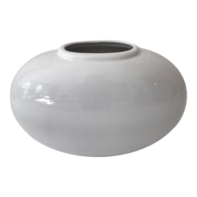 Image of Haeger White Oval Pottery Vase