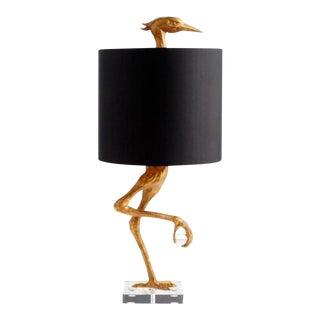 Lucite Base Heron Lamp