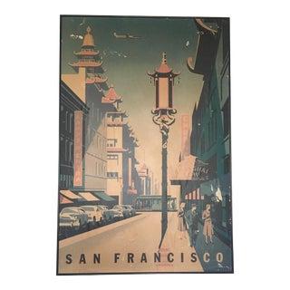 Framed Mid-Century San Francisco Poster