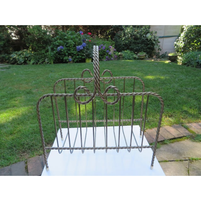 Vintage Twisted Metal Magazine Rack - Image 2 of 4