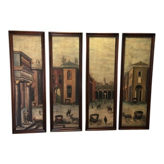 Old-World Oil Paintings - Set of 4