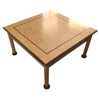 Artisan Craft Birdseye Maple Coffee Table, Signed