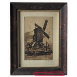 Image of Antique Etching, Framed and Signed