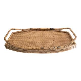 Vintage Boho Chic Rattan Tray