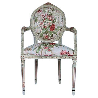 French Provincial Floral Armchair