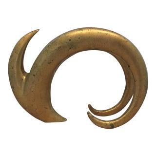 1970's Brass Ram Sculpture
