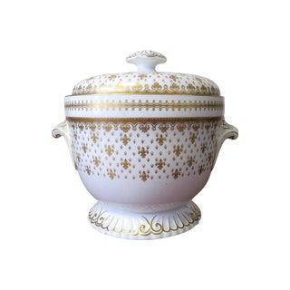Vintage Spode Gold Fleur De Lis Ice Bucket