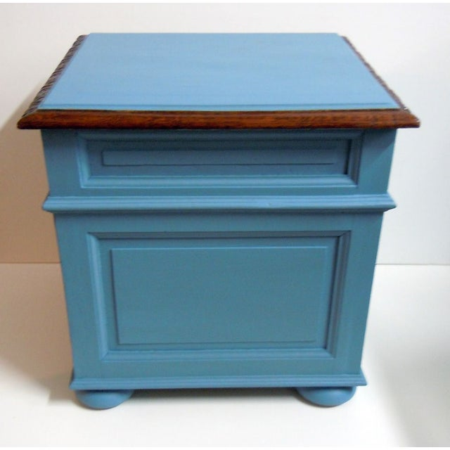 Blue Painted Mid-Century Nightstand - Image 5 of 9