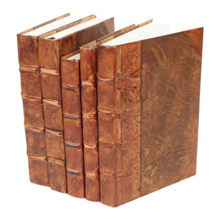 Parchment Collection Caramel Brown Books - Set of 5