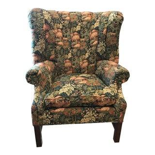 Huntley Floral Wingback Chair