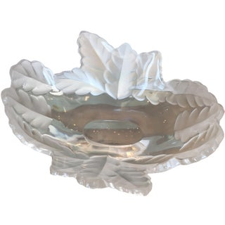 Lalique Frosted Leaf Bowl