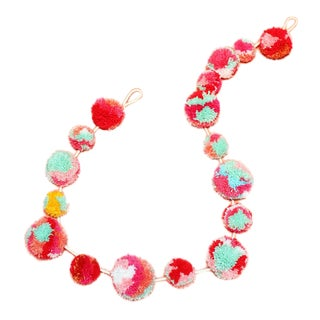 Bubblegum Pom-Pom Holiday Garland