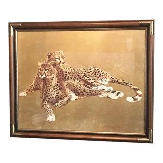 Paul Longenecker Cheetahs Framed Print