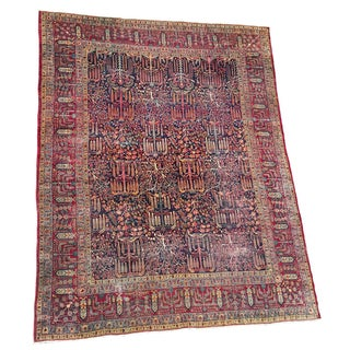 Distressed Persian Kerman Rug - 9′7″ × 12′4″