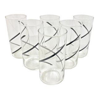 Mid-Century Spiral Graphic Drinking Glasses