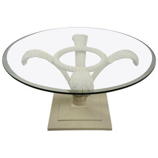 Prince of Wales Plume Cocktail Table in White Lacquer