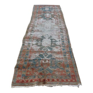 Persian Handwoven Decorative Antique Vintage Melayir Rug - 11' x 3'