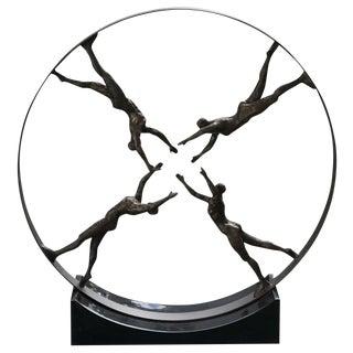 'Reaching for Center' Iron Sculpture