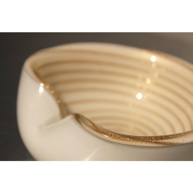 murano optic swirl venetian art glass bowls pair chairish. Black Bedroom Furniture Sets. Home Design Ideas