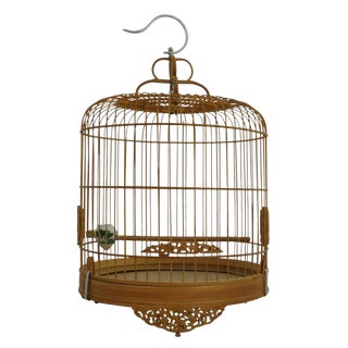 Chinese Bamboo Carved Birdcage