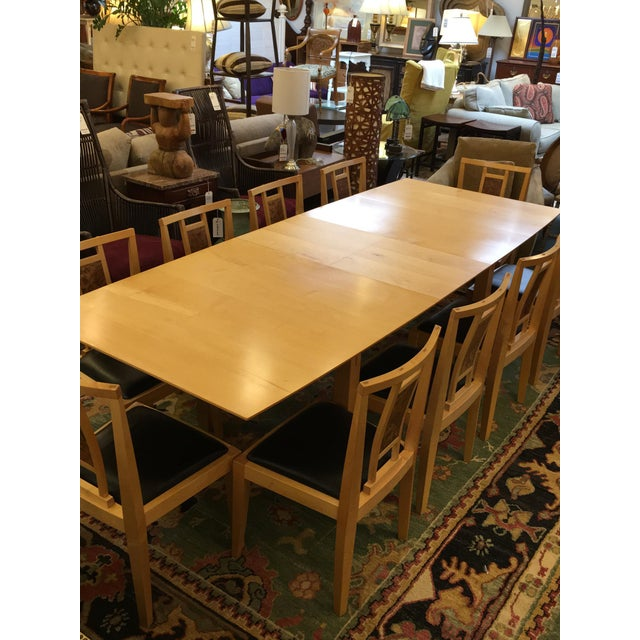Robert Stangler Argus Dining Table & McCormick Chairs - Set of 11 - Image 8 of 11